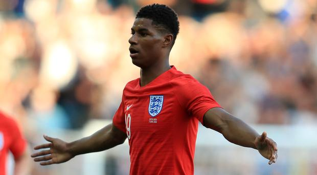 Marcus Rashford was absent from England training (Mike Egerton/PA)