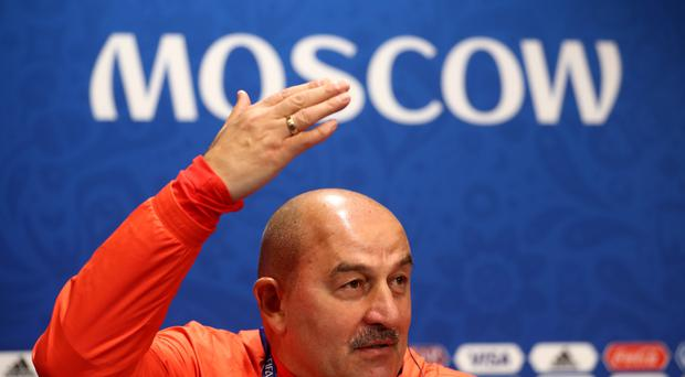 Russia manager Stanislav Cherchesov is comfortable with pressure (Tim Goode/Empics)