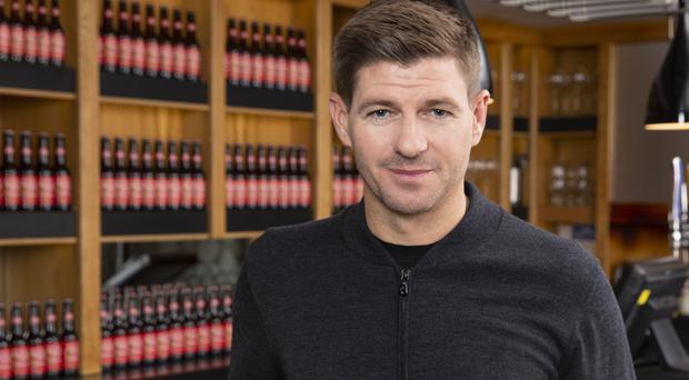 Former England captain Steven Gerrard, as new Budweiser World Cup ambassador, has launched a initiative to give every adult a free beer if England lift the trophy in Russia (Credit: Handout photo).