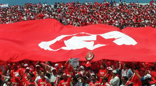 Tunisia fans from the 1998 World Cup game against England – the last time the two countries played each other (Sean Dempsey/PA)
