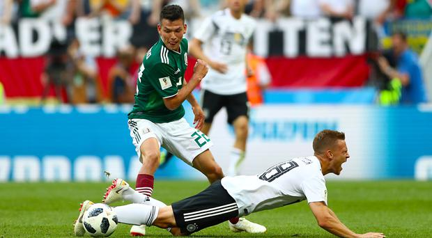 Mexico's match-winner Hirving Lozano in action (Tim Goode/EMPICS)