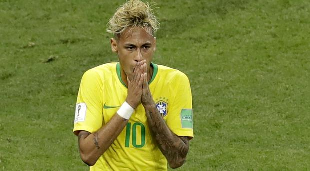 Neymar limped out of training today