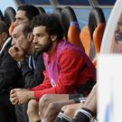 Egypt's Mohamed Salah, centre, could return against Russia (Mark Baker/AP)