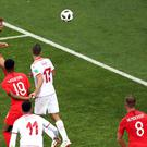Harry Kane nodded home at the far post to win it for England (Tim Goode/PA)