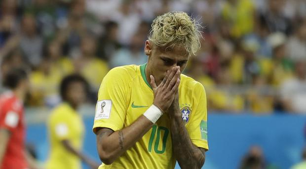 Neymar recovered from a fractured metatarsal to be fit for the World Cup (Andre Penner/AP)