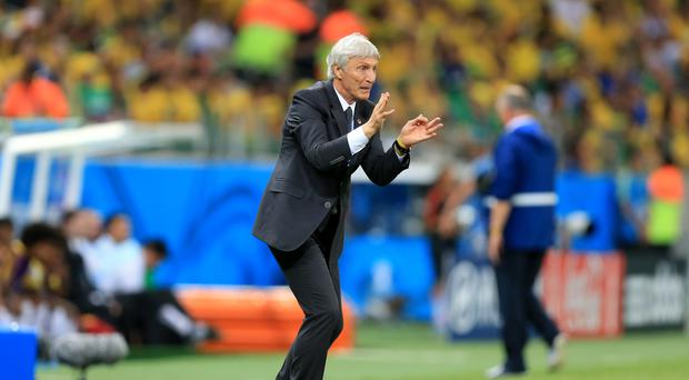 Jose Pekerman saw Colombia lose their opening World Cup match to Japan (Mike Egerton/Empics)