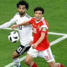 Egypt's Mohamed Salah was back in action but could not inspire a win against hosts Russia (Owen Humphreys/PA)