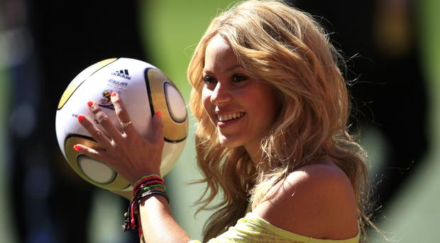 Shakira pictured during the 2010 World Cup (Mike Egerton/EMPICS Sport)