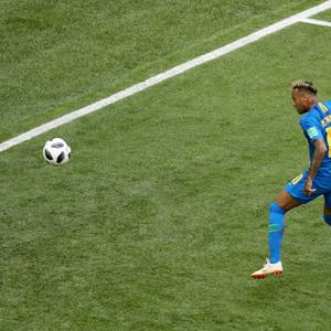 Neymar scored Brazil's second goal in their victory over Costa Rica (Owen Humphreys/PA)