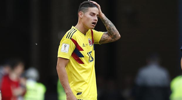 James Rodriguez has been struggling with injury (Natacha Pisarenko/AP)