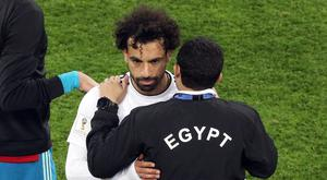 Mohamed Salah came into the World Cup with a shoulder injury (Owen Humphreys/PA)