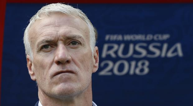 A World Cup-winning captain in 1998, Didier Deschamps says his objective on Tuesday is clear: beat Denmark, top the group (Pavel Golovkin/AP)