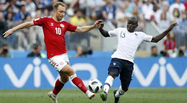 Christian Eriksen and N'Golo Kante are two of the Premier League's best players but even their combined quality could not lift this game (David Vincent/AP)