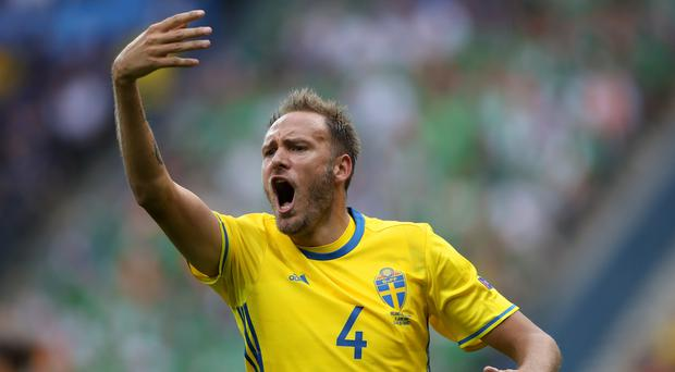 Sweden's Andreas Granqvist scored his second penalty of the World Cup. (John Walton/PA)