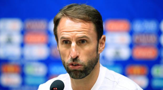 England manager Gareth Southgate spoke to the media in Kaliningrad on Wednesday evening (Adam Davy/PA)