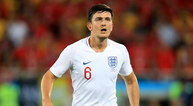 Harry Maguire, pictured, defended Gareth Southgate for backing his convictions in making eight changes (Adam Davy/PA)