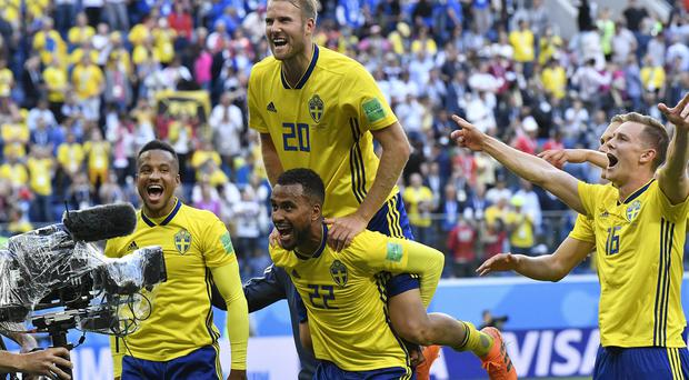 Sweden are through to the World Cup quarter-finals (AP)