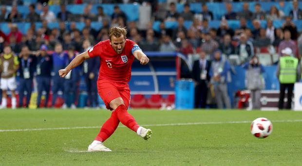 England's Harry Kane scored twice from the penalty spot in the win over Colombia (Tim Goode/PA)
