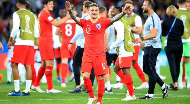 England's dramatic penalty shootout win at the Spartak Stadium was a rare success in the knockout stage of major championships. (Adam Davy/PA Images)