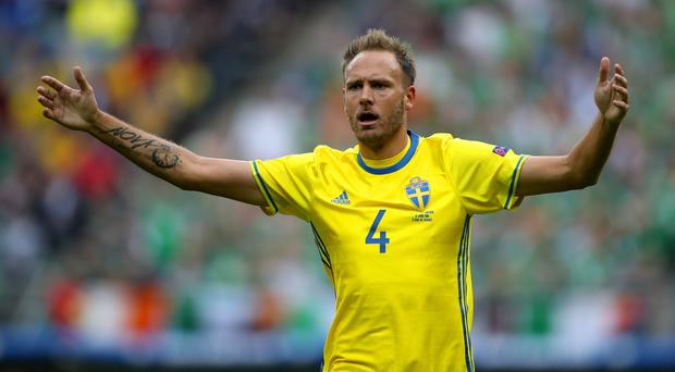 Sweden's Andreas Granqvist (pictured) intends to stop Harry Kane on Saturday (John Walton/PA)