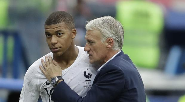 It was not Kylian Mbappe's best game but Didier Deschamps knows there is more to come from him and his team-mates (Natacha Pisarenko/AP)