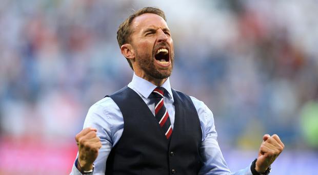 Gareth Southgate's side one win away from a World Cup final (Owen Humphreys/PA)