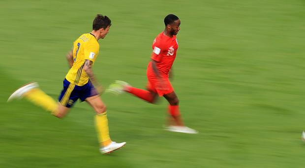 England's Raheem Sterling was unable to end his international goal drought against Sweden (Adam Davy/PA)