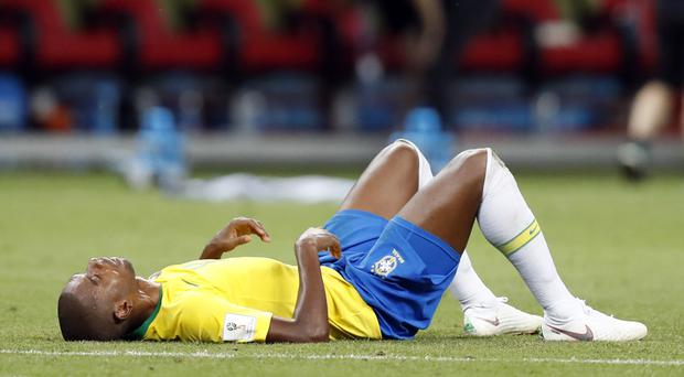 Fernandinho has received abuse and threats since Brazil's World Cup quarter-final exit (Eduardo Verdugo/AP)