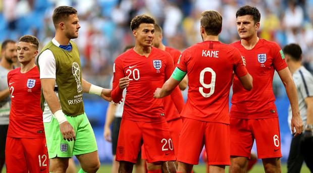 England play Croatia in the semi-finals (Tim Goode/PA)