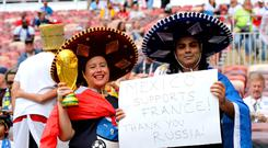 Love of the game: Supporters enjoy the World Cup festivities