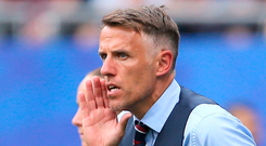 Controversy: England manager Phil Neville