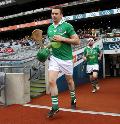 Special moment: Karl Kehoe steps out for Fermanagh in the Lory Meagher Cup final