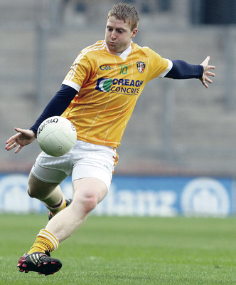 Putting the boot in: Terry O'Neill played a key role in stifling the Donegal attack during Antrim's win back in 2009