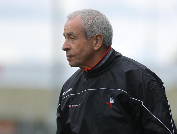 Missing the action: Pete McGrath at home on the touchline