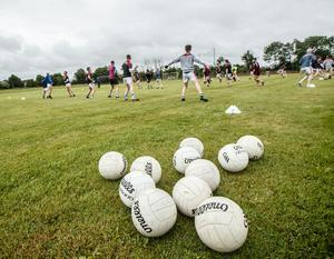 Back in action: Clubs across the country have returned to training but the situation at county level is up in the air