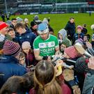 Great occasion: TJ Reid of Ballyhale Shamrocks with fans after the game with Slaughtneil