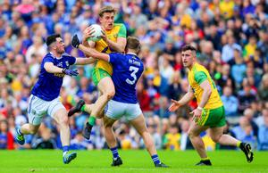 Way we were: Donegal on way to victory over Cavan with Hugh McFadden in control in last year's Ulster Final in Clones