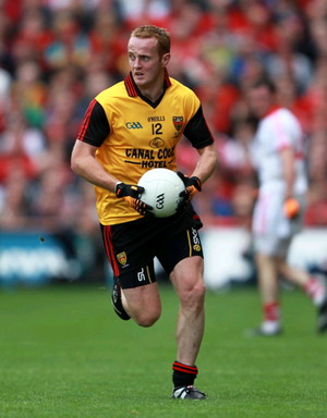 On the ball: Benny Coulter in action on All-Ireland day 2010