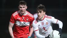 Right road: Tyrone's Darragh Canavan (right) is battling back to full fitness after injury