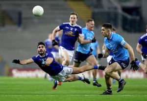 Eyes on the ball: Cavan's Conor Smith and Davy Byrne of Dublin