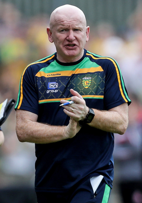All change: Donegal boss Declan Bonner is now looking further ahead
