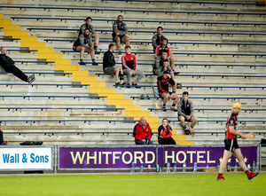 Back in action: People in the stand at the clash between St. Martin'ss and Oulart-The-Ballagh in Wexford