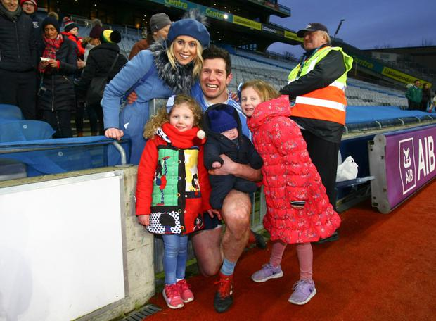 Juggling act: Sean Cavanagh, with his wife Fionnula and kids, Eva, Clara and Sean Jnr, has built up a chartered accountancy business alongside juggling a successful career with Tyrone and Moy