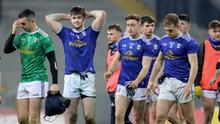 Beaten: Cavan's Raymond Galligan, Thomas Galligan, Ciaran Brady and Padraig Faulkner at the end of the semi-final