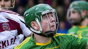 Final aim: Conal Cunning hopes to lead Dunloy into another decider. Credit: INPHO/Evan Logan