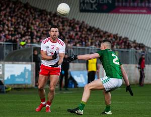 In limbo: Tyrone ace Darren McCurry in action against Meath