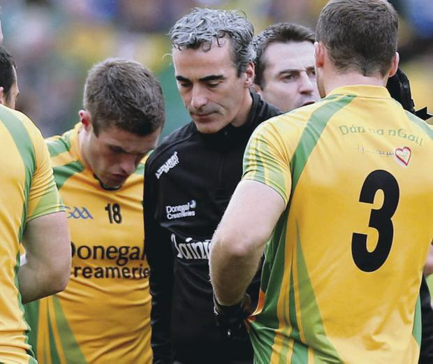 Still the one: Jim McGuinness has received widespread backing despite Donegal's heavy defeat against Mayo
