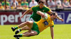 Slide rule: Meath's Padraic Harnan closes down Michael Murphy