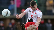 Kicking on: Darren McCurry in action during the victory over Kerry