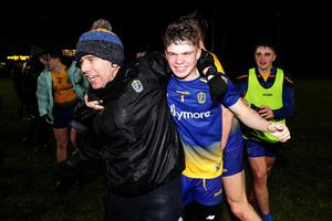 Final say: Roscommon's goalkeeper David Farrell celebrates after the Connacht Minor Football Championship Final